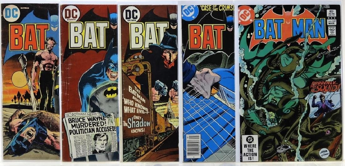 5 DC Comics Batman No. 244 245 253 298 357