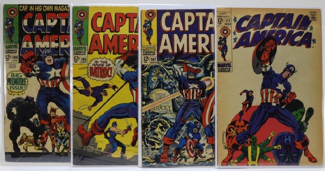 4 Marvel Comics Captain America Comic Books CBCS