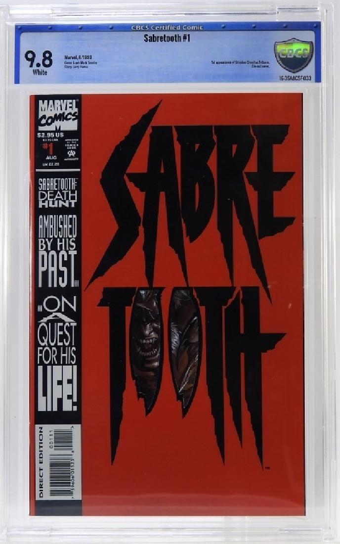 1993 Marvel Comics Sabertooth No.1 CBCS 9.8