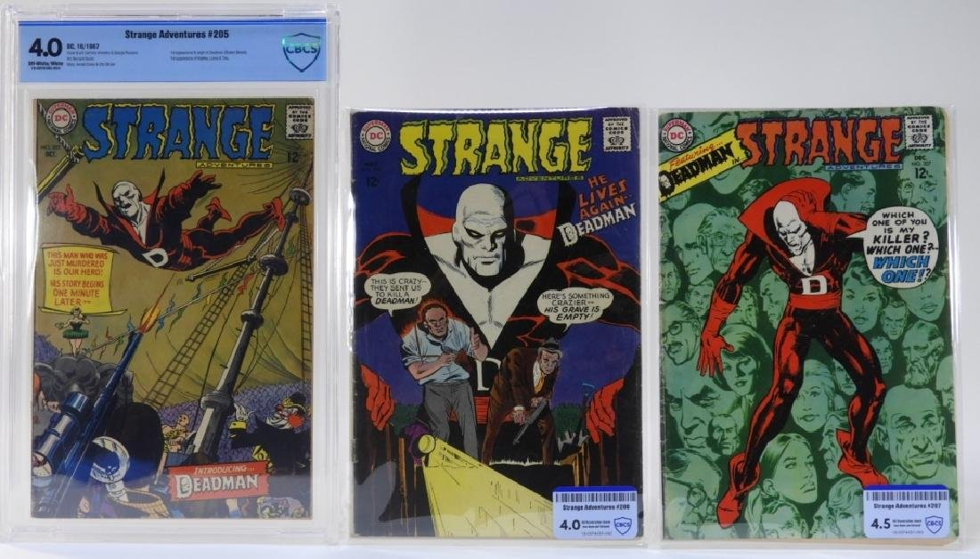 3 DC Comics Strange Adventures No.205-207 CBCS