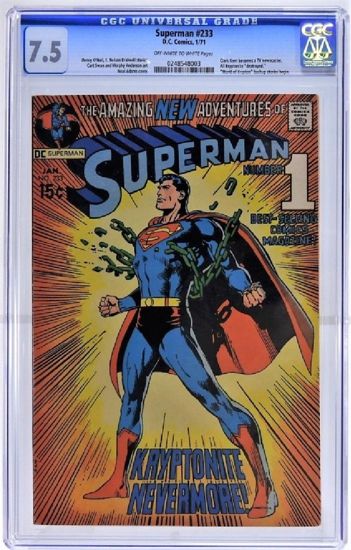 DC Comics Superman No.233 CGC 7.5