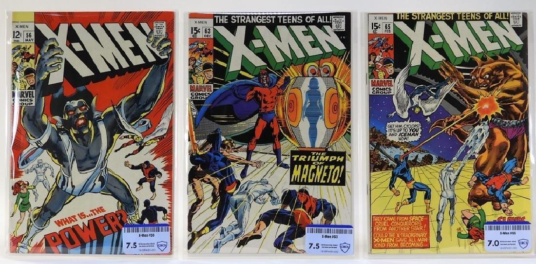 3 Marvel Comics X-Men No.56 63 65 CBCS 7.5 7.0
