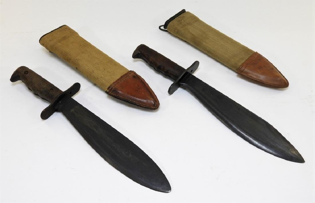 2 WWI Model 1917 C.T. Bolo Trench Knives by Plumb