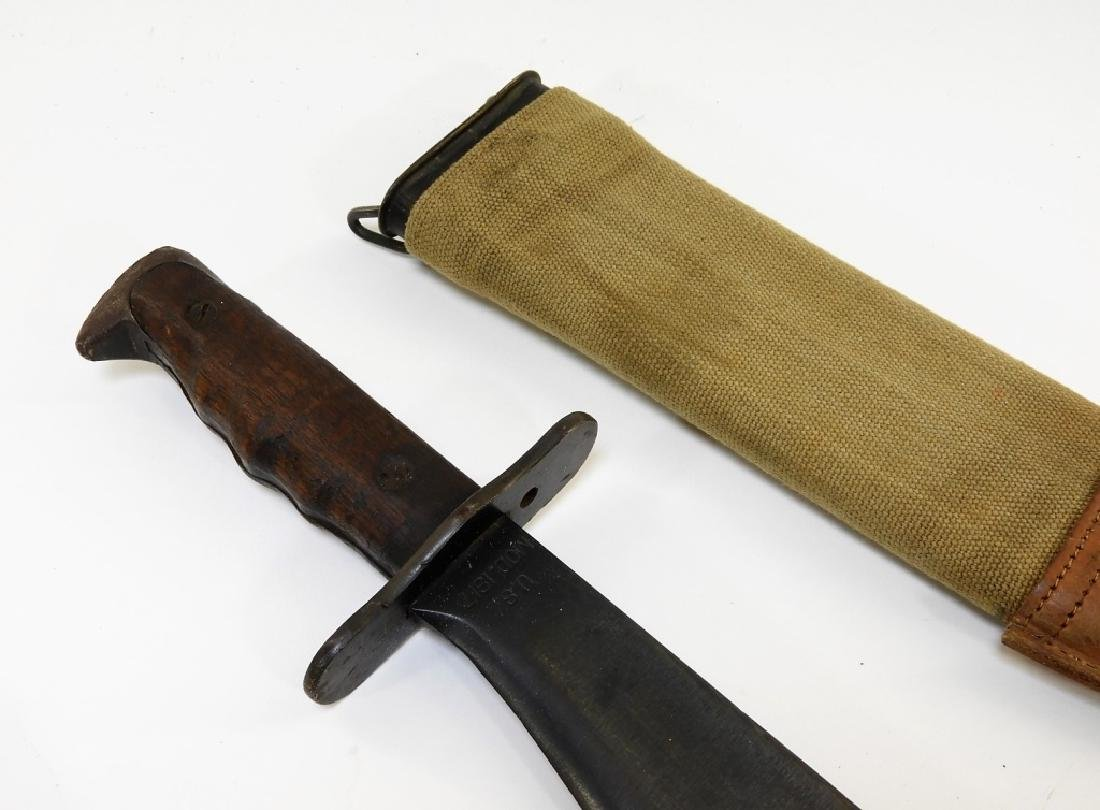 2 WWI Model 1917 C.T. Bolo Trench Knives by Plumb - 4