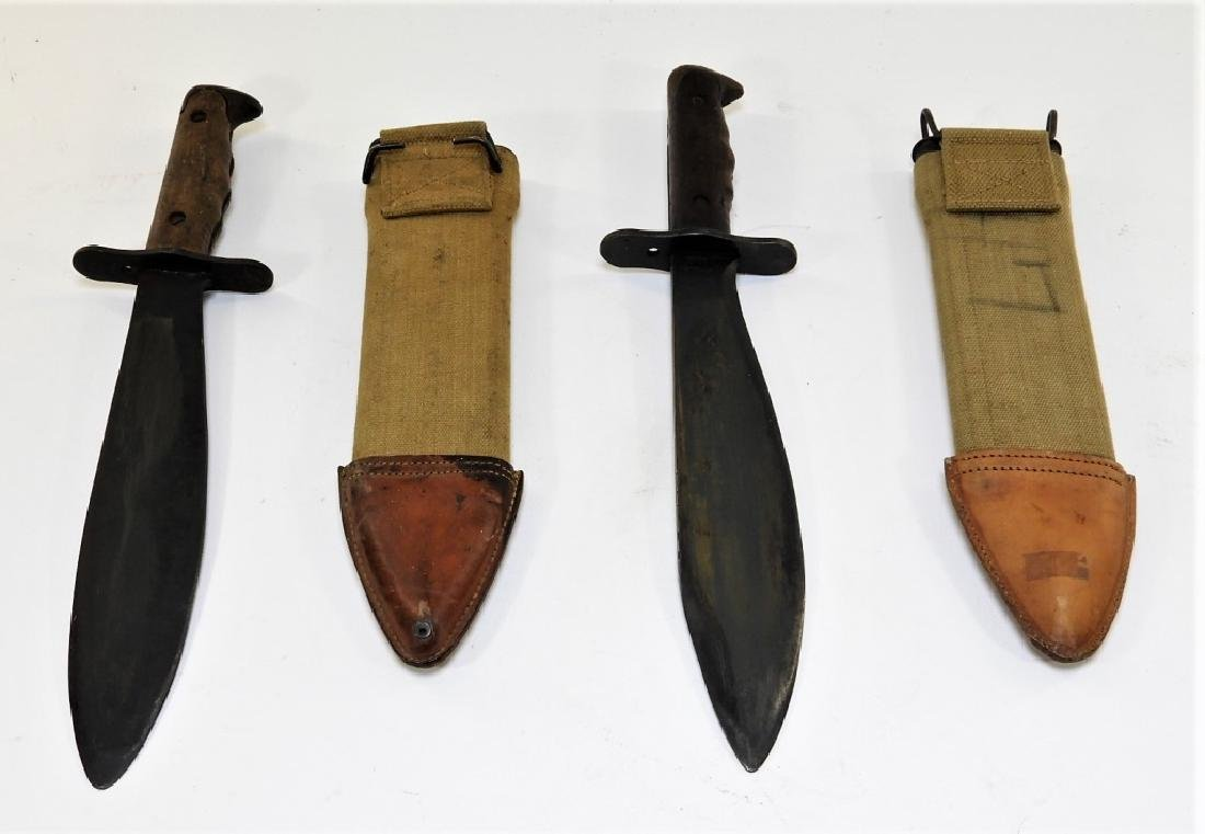 2 WWI Model 1917 C.T. Bolo Trench Knives by Plumb - 6