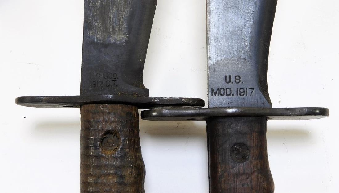 2 WWI Model 1917 C.T. Bolo Trench Knives by Plumb - 8