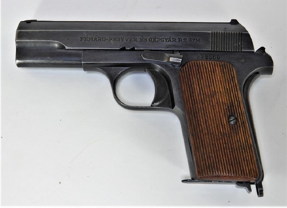 WWII Hungarian Model 37 Femaru Pistol w/ Holster
