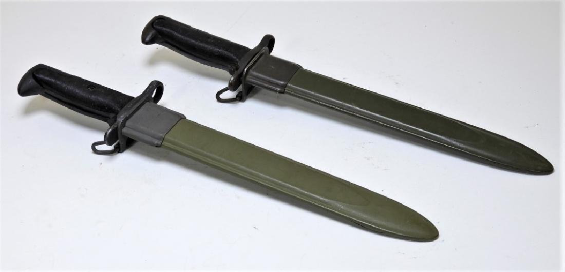 """WWII U.S Army M1 Garand Bayonets """"OL"""" & """"KS"""" (2)"""