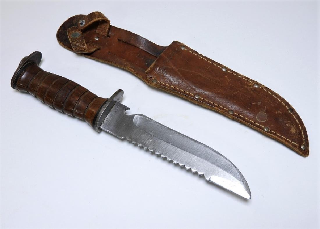 WWII Period EGW Fighting Knife ID'd to a Captain - 2