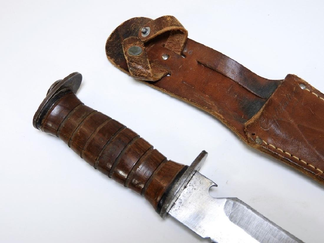 WWII Period EGW Fighting Knife ID'd to a Captain - 3