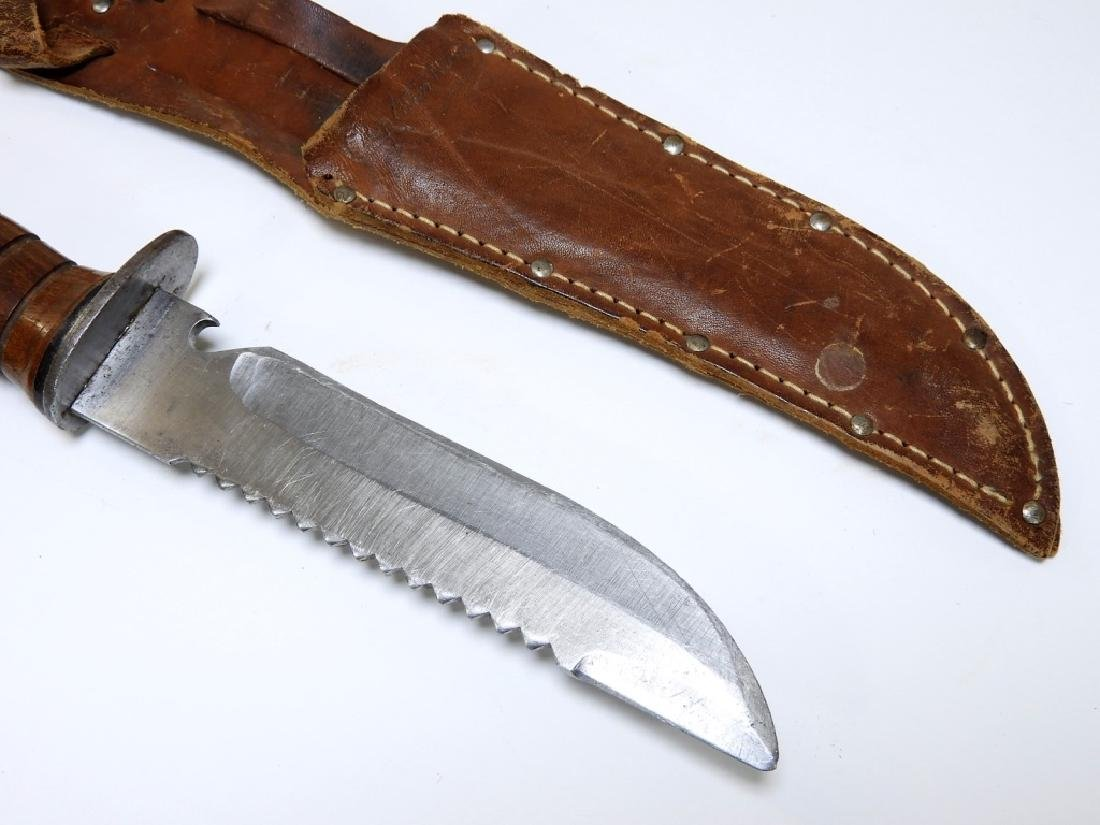 WWII Period EGW Fighting Knife ID'd to a Captain - 4
