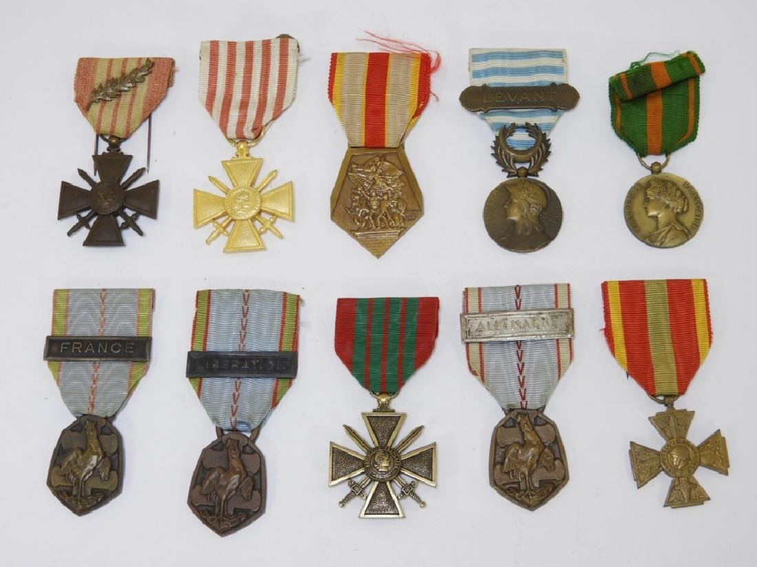 WWII French Military & Government Service Medals