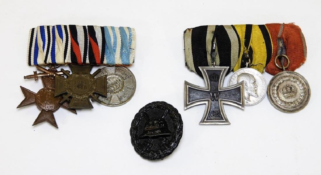 WWI German Medal Bars & Wound Badge - Iron Cross