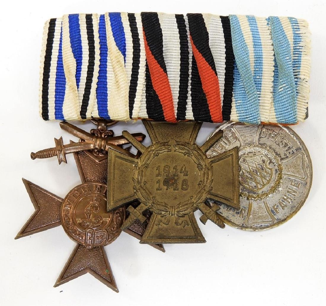 WWI German Medal Bars & Wound Badge - Iron Cross - 2