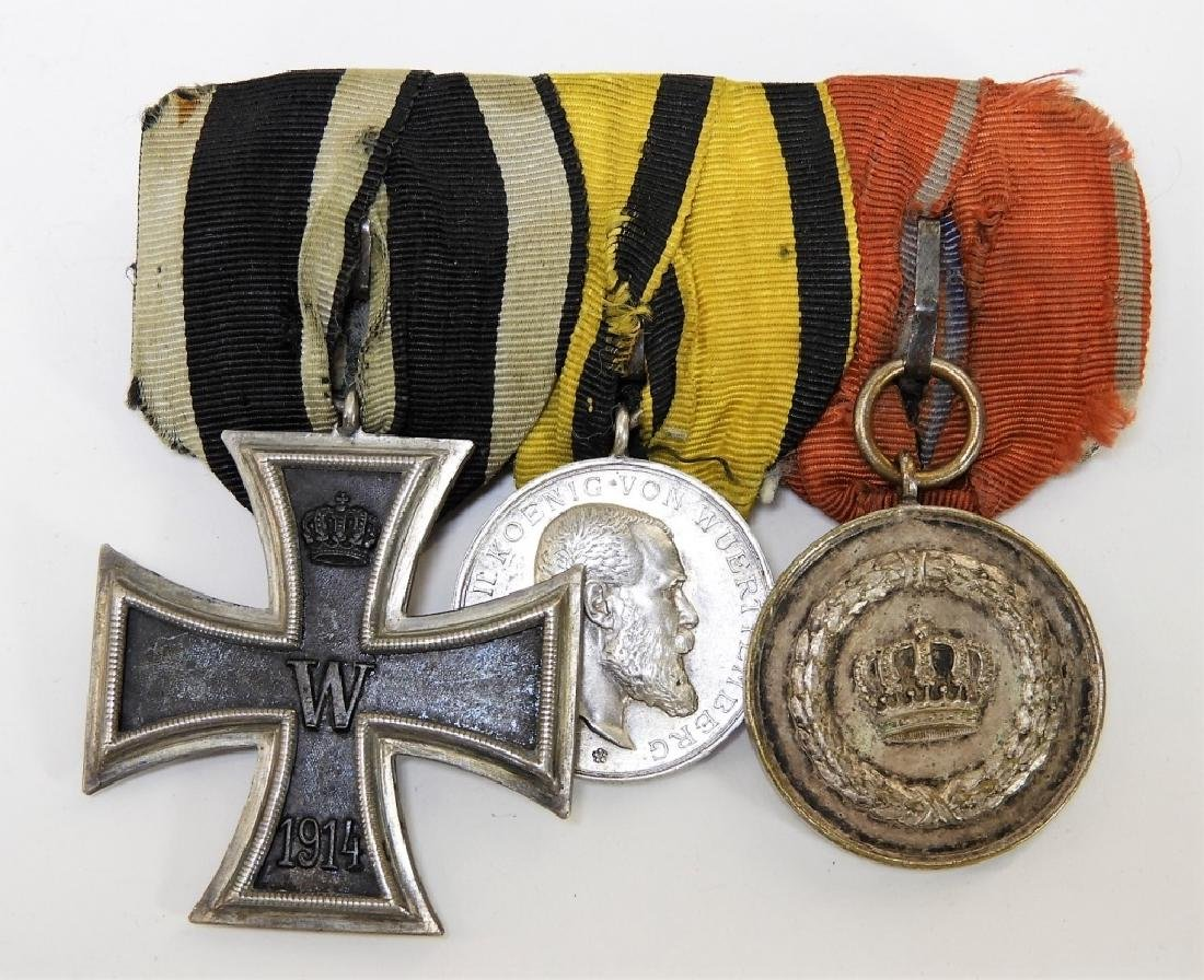 WWI German Medal Bars & Wound Badge - Iron Cross - 3