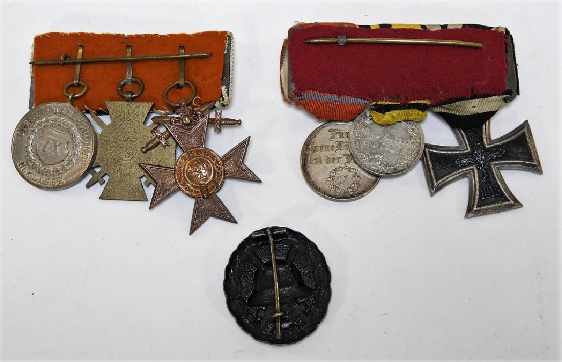 WWI German Medal Bars & Wound Badge - Iron Cross - 5