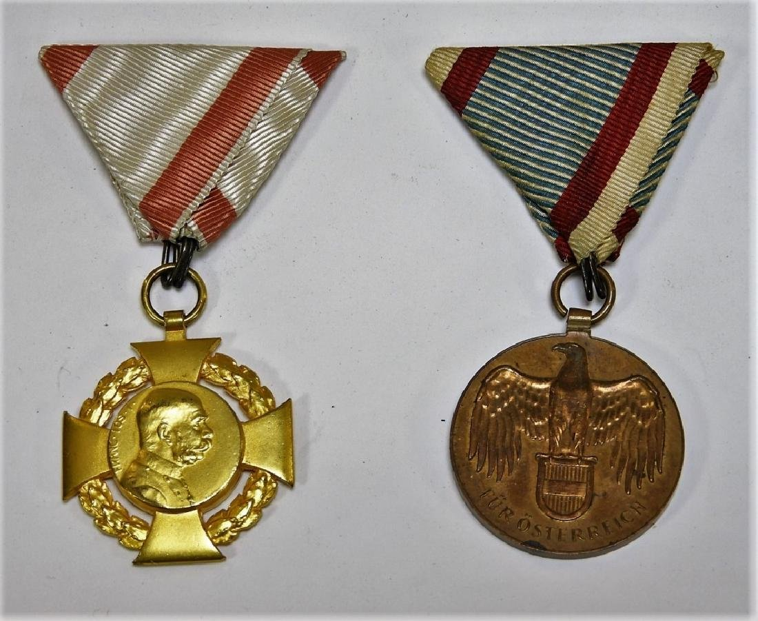 WWI & Earlier Austrian Hungarian Medals Iron Cross - 4
