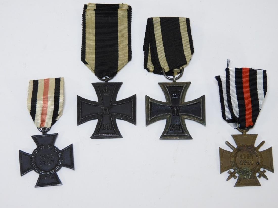 WWI German Medals (2) Iron Crosses (2) War Merit
