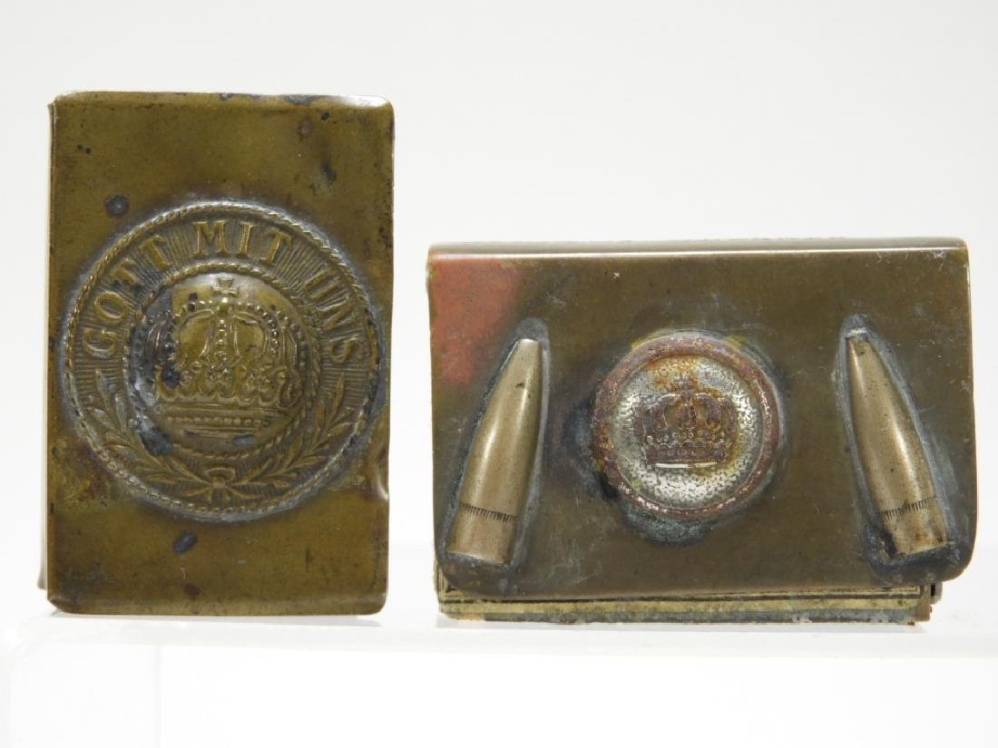 WWI German Trench Made Match Holders - 2