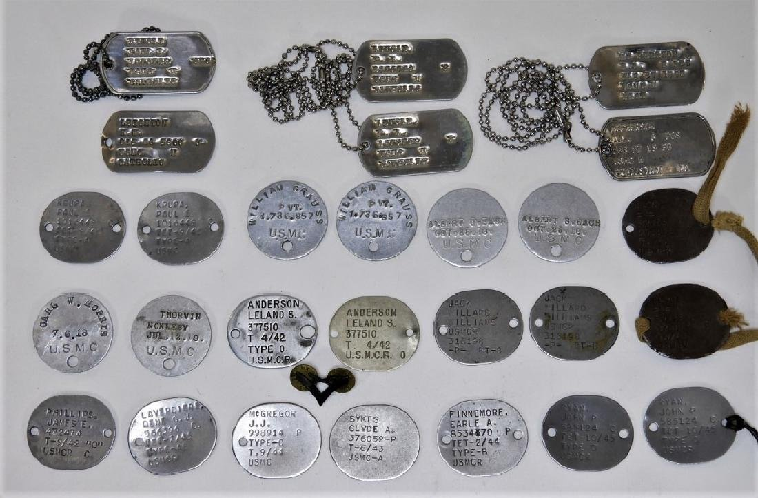 Collection: U.S. Marine Corps Dog Tags 1917 -1950