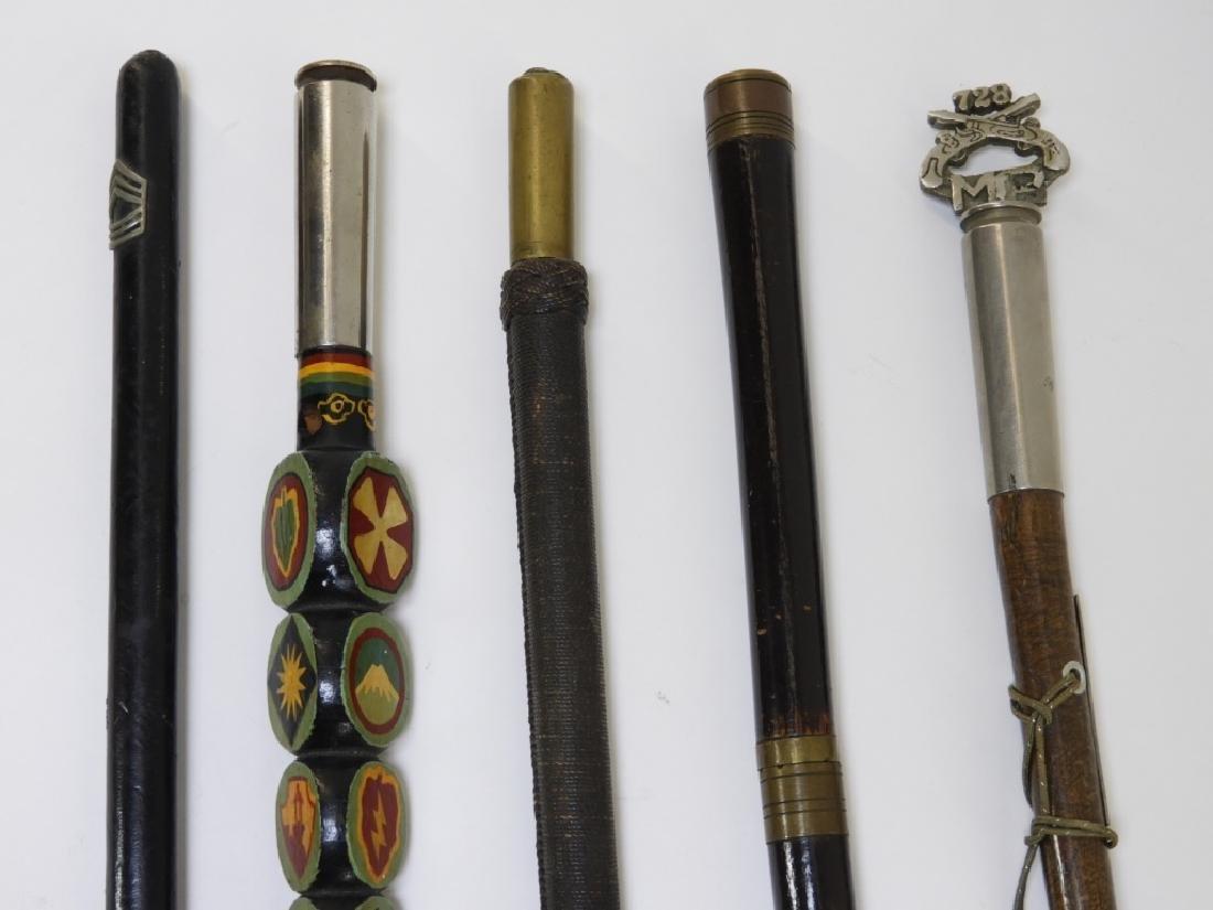 WWI - Korean War Military Swagger Sticks (5)