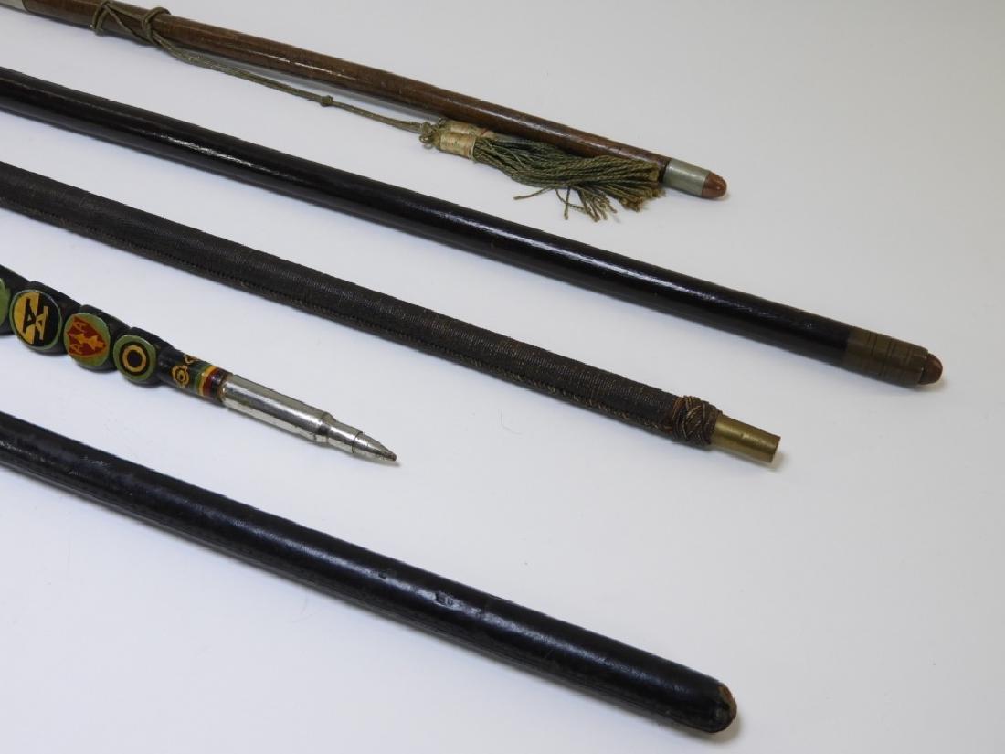 WWI - Korean War Military Swagger Sticks (5) - 5
