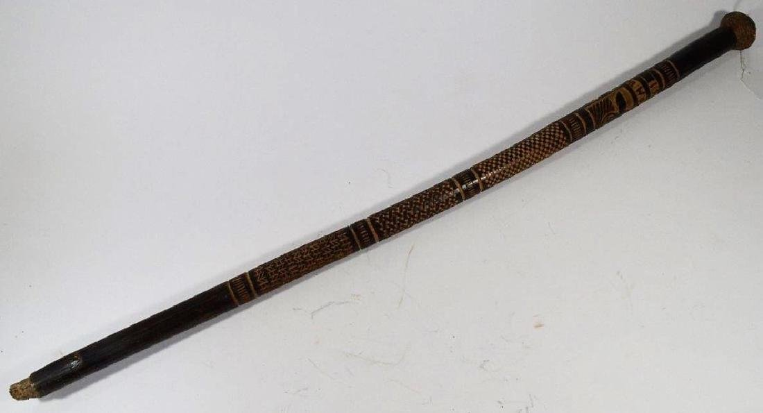 WWII German Russian Front Carved Walking Stick - 5