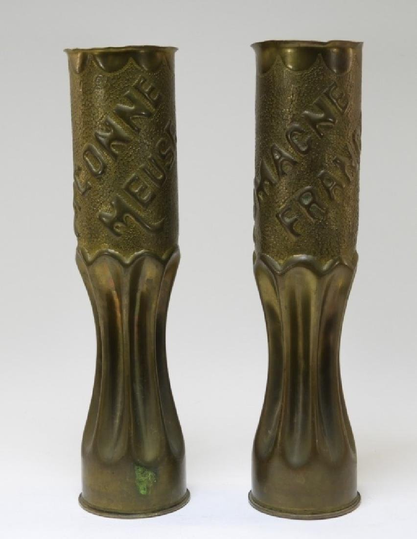 "WWI Trench Art Shell ""ARGONNE"" "" ROMAGNE"" (2)"