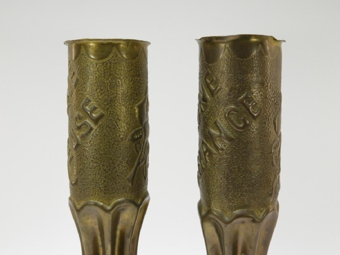 "WWI Trench Art Shell ""ARGONNE"" "" ROMAGNE"" (2) - 2"