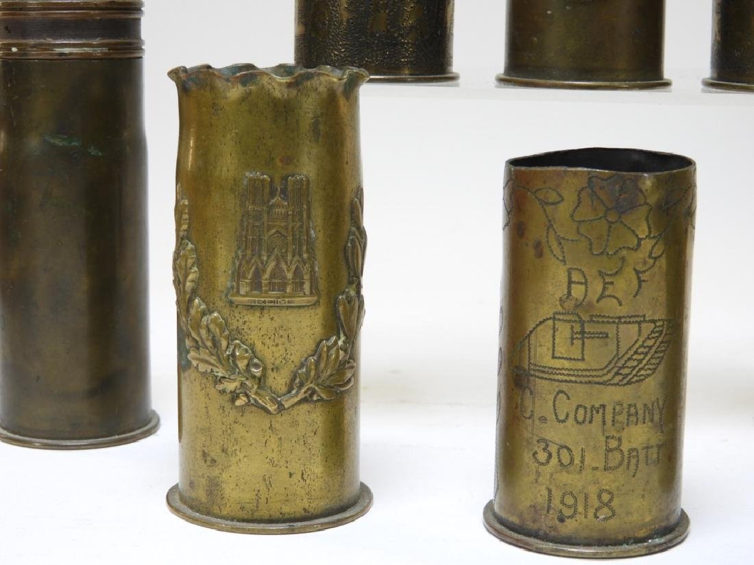 WWI Trench Art Shell With Tank & Iron Cross (8) - 3