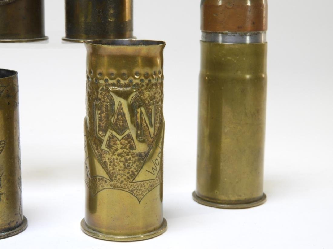 WWI Trench Art Shell With Tank & Iron Cross (8) - 4