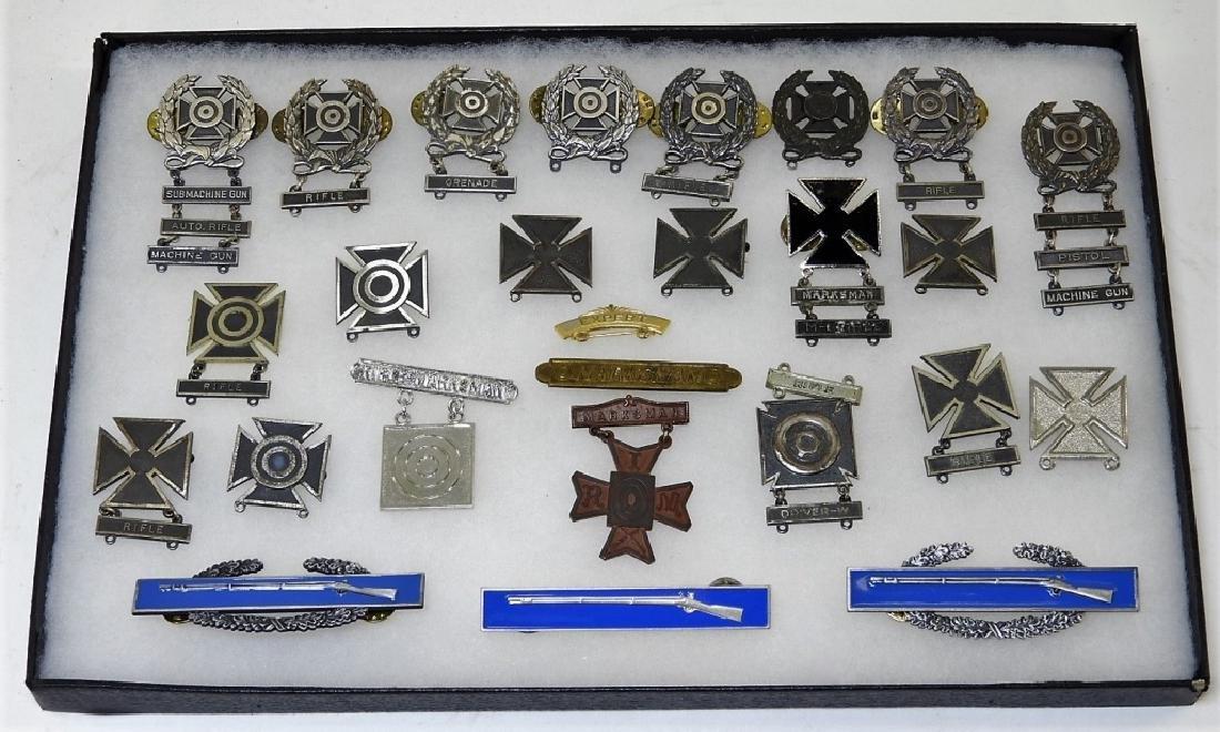 WWII - Present Marksman, Combat Infantry Badges