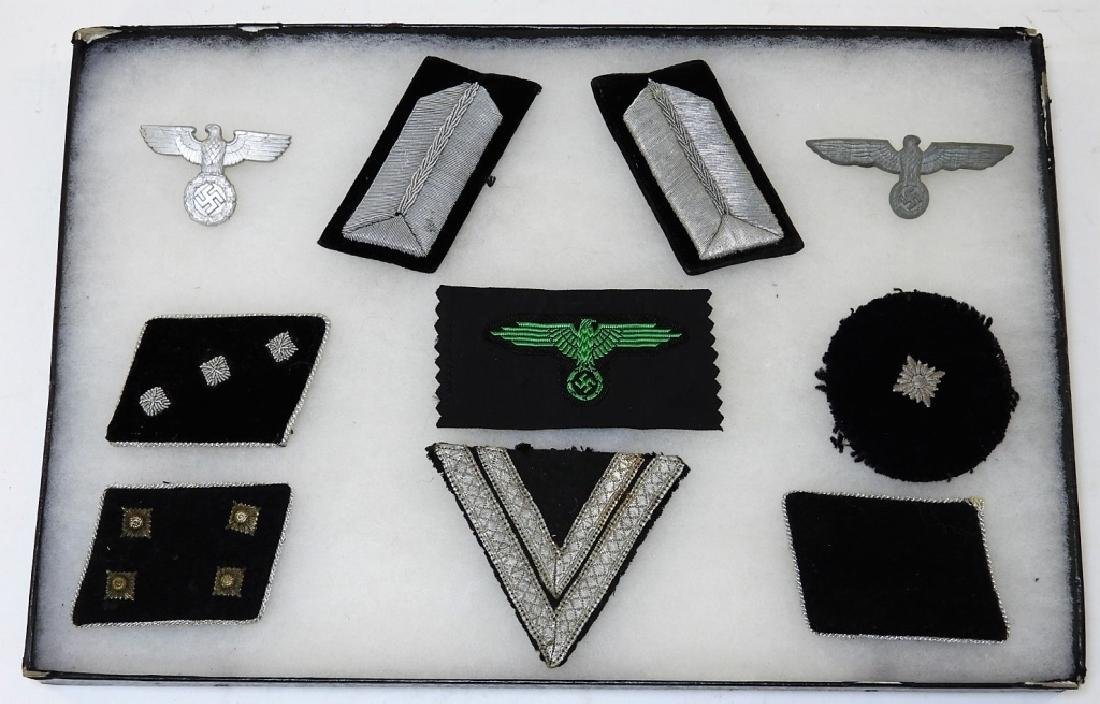 WWII German Police and SS Collar Tabs & Insignia