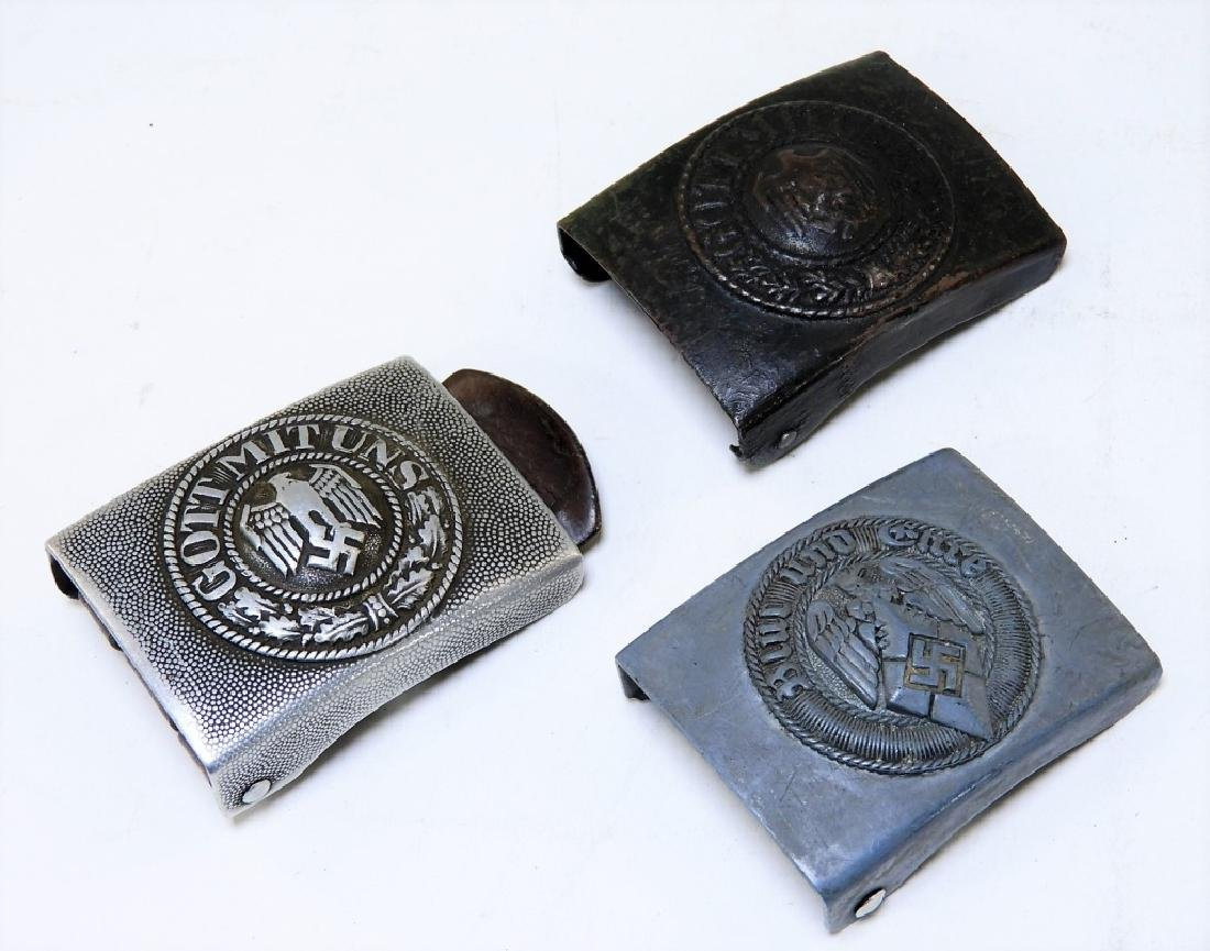 (3) WWII German Military Belt Buckles