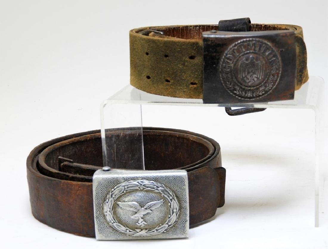 WWII German Army & Luftwaffe Belts with Buckles