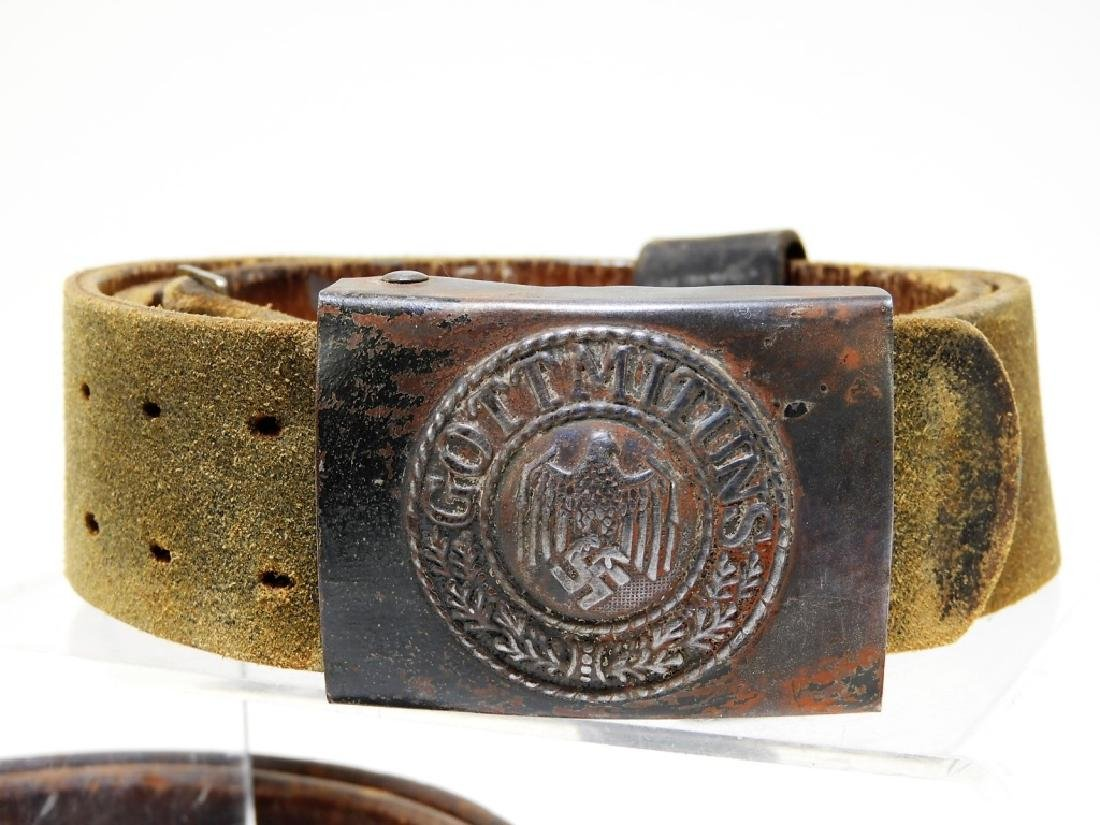 WWII German Army & Luftwaffe Belts with Buckles - 2