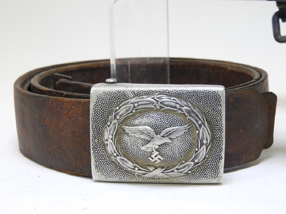 WWII German Army & Luftwaffe Belts with Buckles - 3