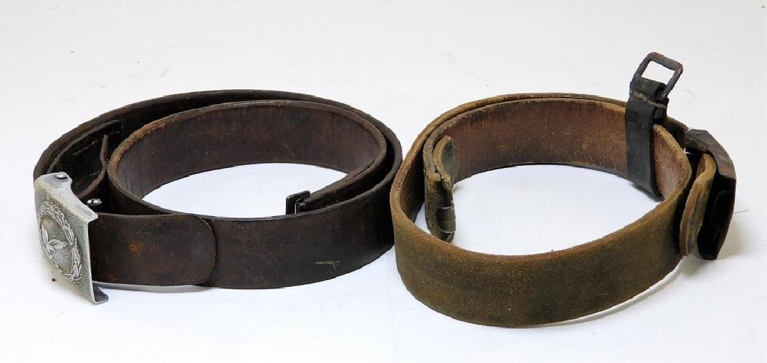 WWII German Army & Luftwaffe Belts with Buckles - 8