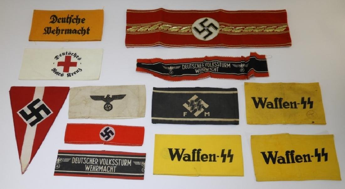 WWII Style German Armbands SS & Red Cross