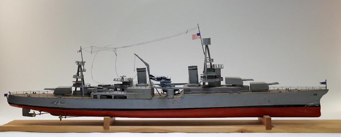 "Ships Model of Portland Class Heavy Cruiser ""34"""