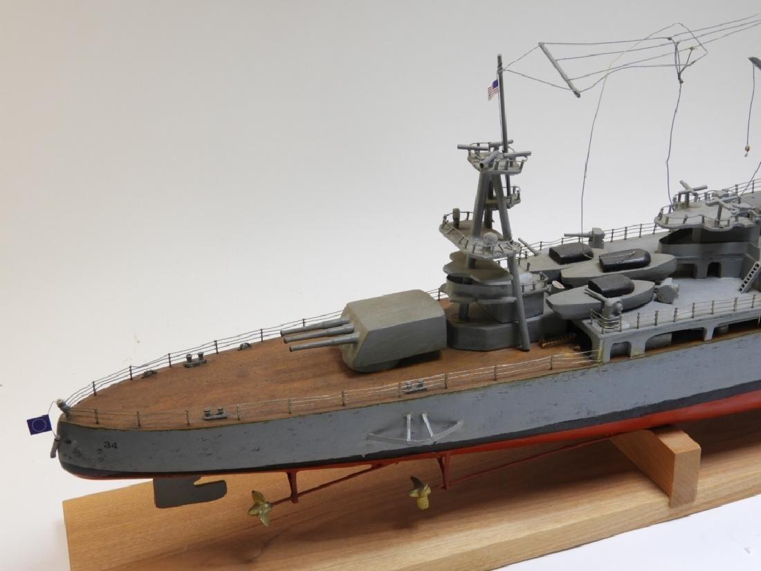 "Ships Model of Portland Class Heavy Cruiser ""34"" - 4"
