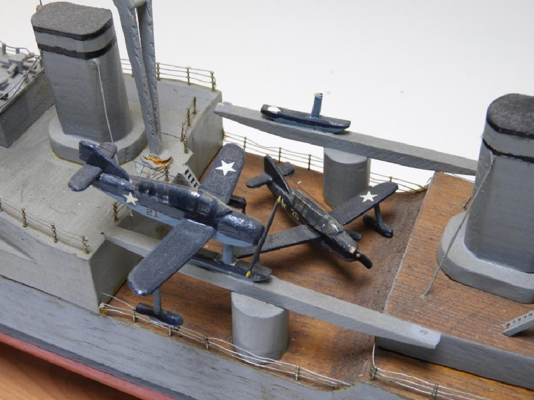 "Ships Model of Portland Class Heavy Cruiser ""34"" - 5"