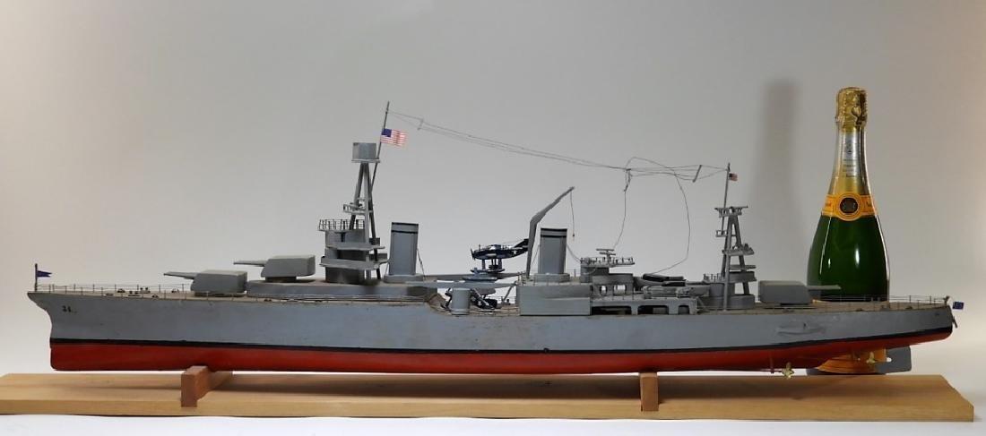 "Ships Model of Portland Class Heavy Cruiser ""34"" - 6"