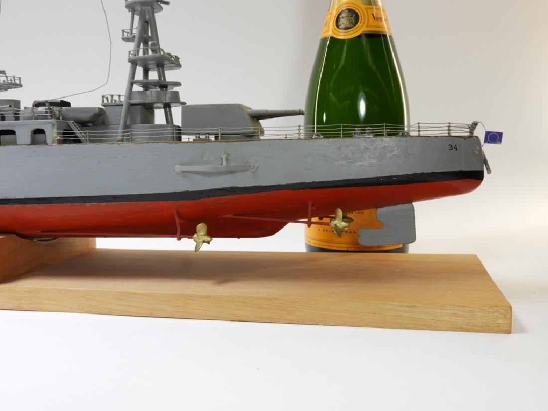"Ships Model of Portland Class Heavy Cruiser ""34"" - 7"