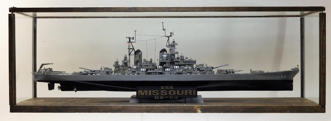 Plastic Ship Model of the USS Missouri