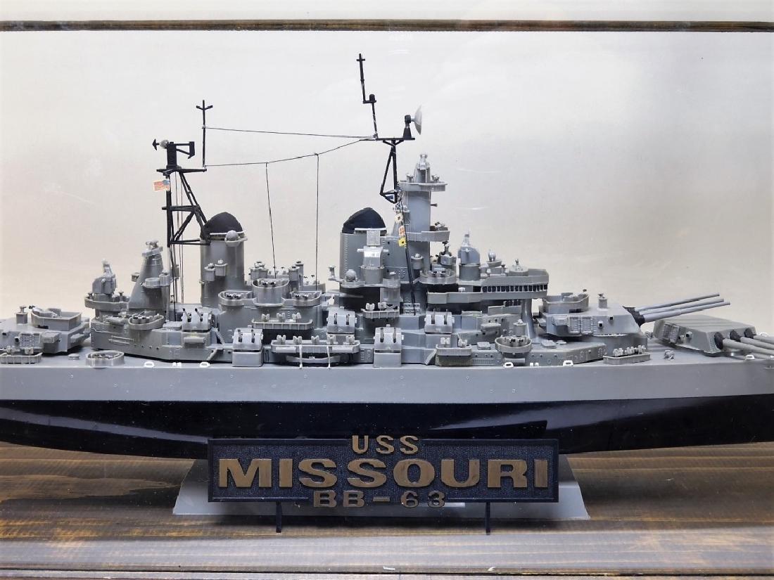 Plastic Ship Model of the USS Missouri - 2