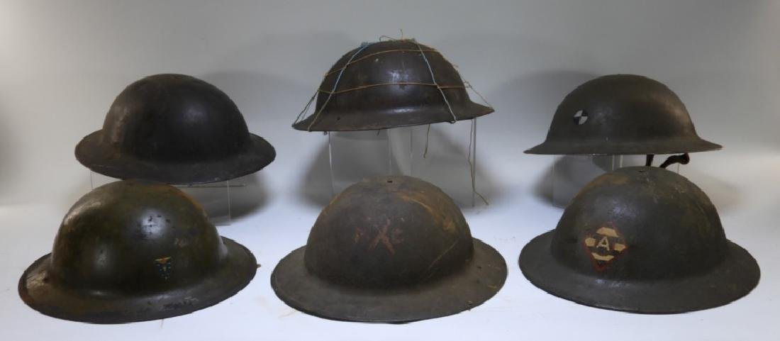 WWI M1917 American Doughboy Unit Painted Helmets