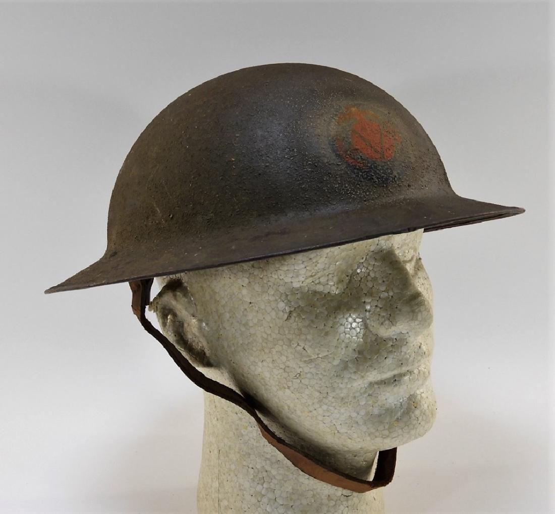 WWI M1917 American 5th Marines Painted Helmet