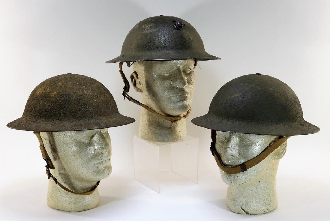 WWII Early War M1917A1 Helmets w/ Marine Corps