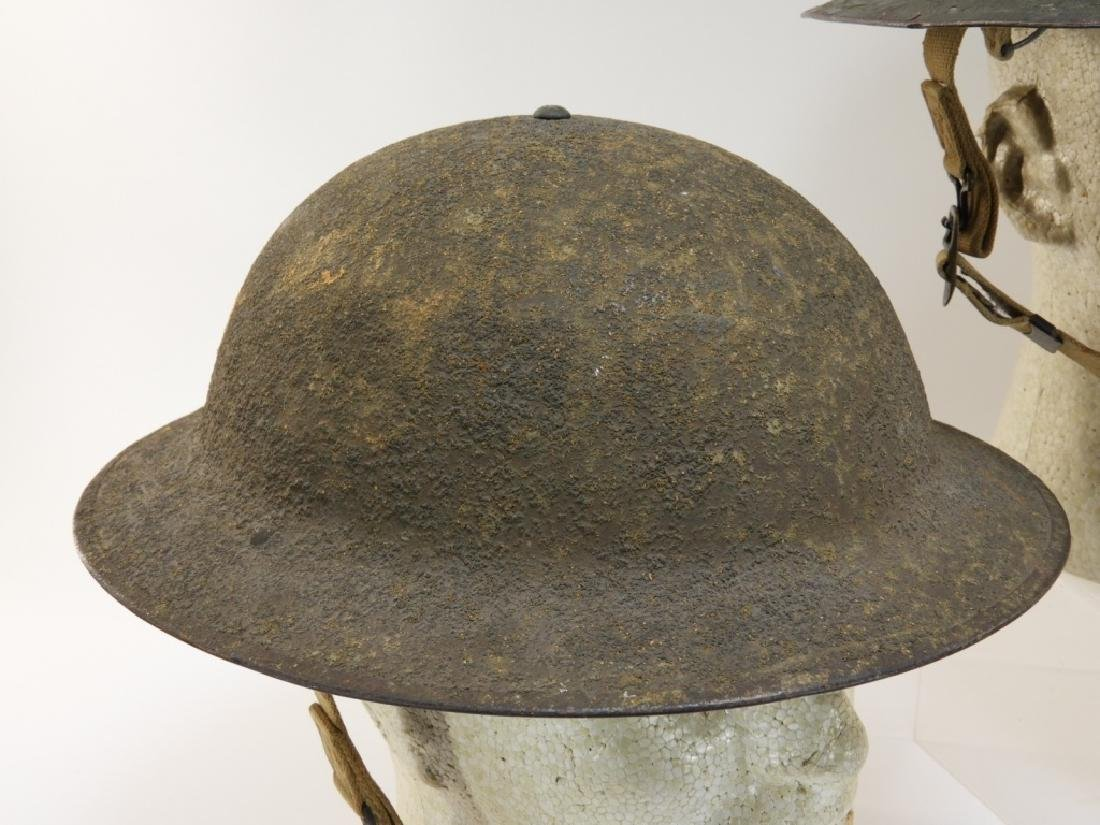 WWII Early War M1917A1 Helmets w/ Marine Corps - 4